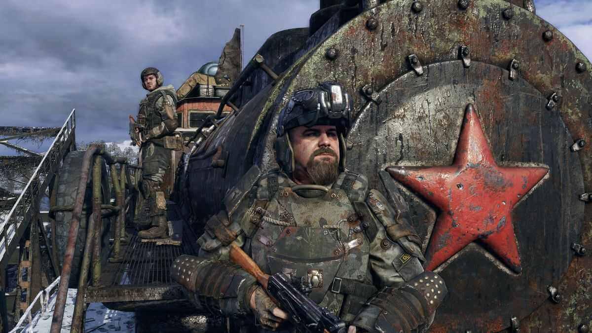 Metro Exodus ingame Screenshot Soldaten