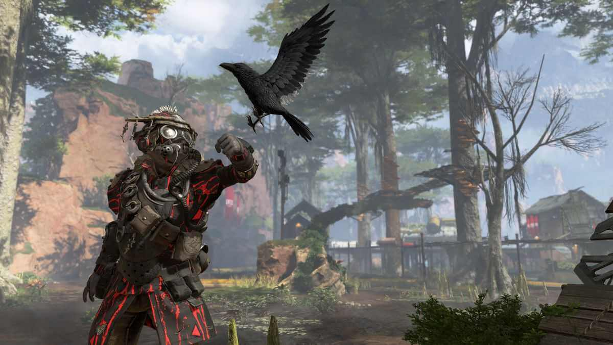 Apex Legends Screenshot Bloodhound mit Rabe