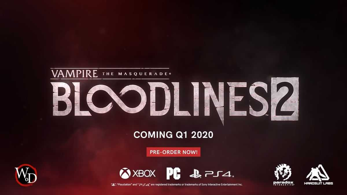 Vampire: The Masquerade-Bloodlines 2